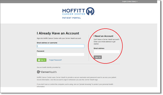 Sign In - MyMoffitt Patient Portal Tutorials